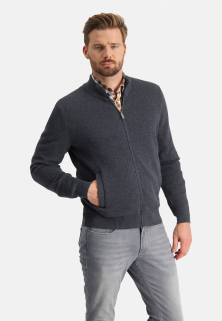 Finely-knitted-cardigan-with-stand-up-collar