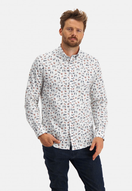Shirt-with-bird-print
