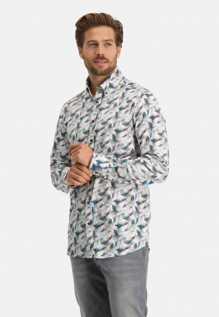 Shirt-with-a-feather-print