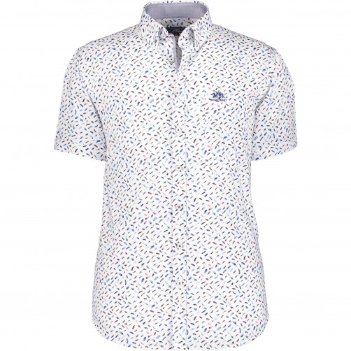 Coton-shirt-with-feather-print