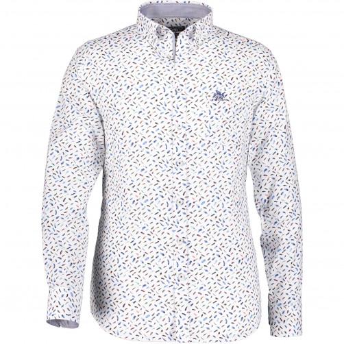 Overhemd-met-een-verenprint