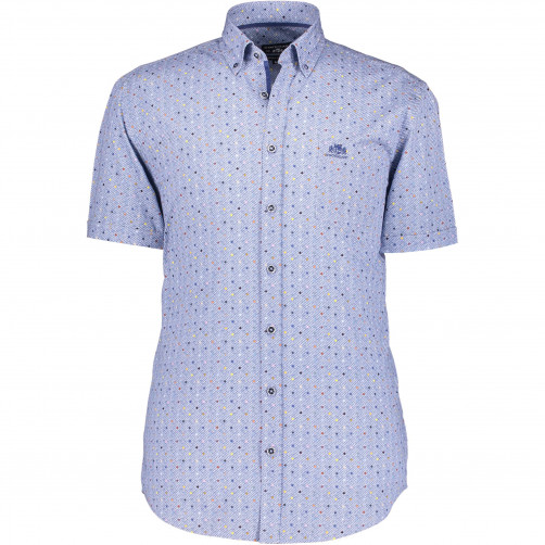 Stretch-shirt-with-a-dot-print