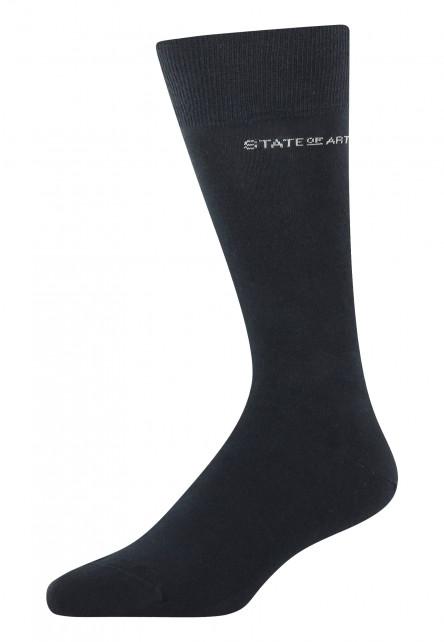 Socken,-uni,-Baumwoll-Mix