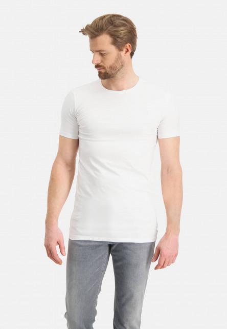T-Shirt,-Rundhalsausschnitt,-weiß