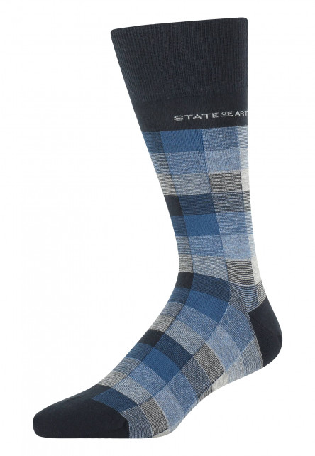 Socks-with-a-checked-pattern