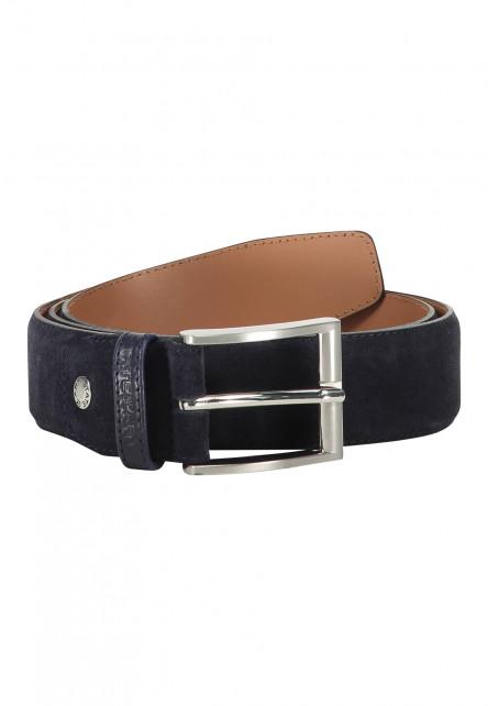 Suede-belt-completely-handmade---dark-blue-plain
