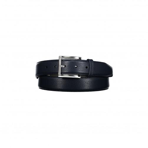 Leather-belt-with-a-nickel-free-buckle---dark-blue-plain