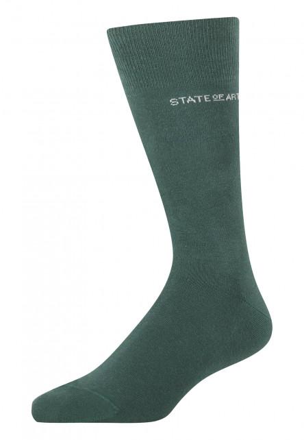Socks-made-of-blended-cotton---dark-green-plain