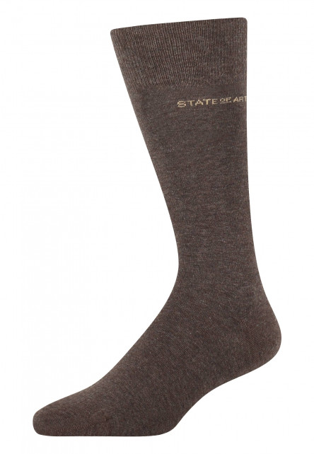 Socken,-uni,-Baumwoll-Mix---dunkelbraun-uni