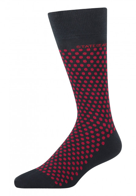Socken,-Tupfendruck,-Jacquard---dunkelblau/rot