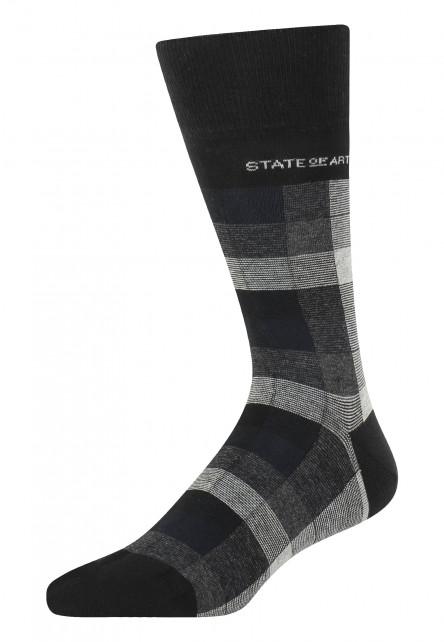 Socken,-kariert---schwarz/silbergrau
