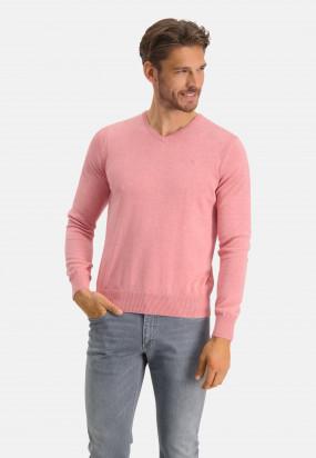 Pullover,-Bio-Baumwolle,-Brustlogo---rosa-uni