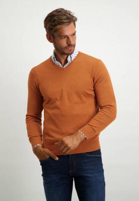 Pullover-mit-V-Ausschnitt-aus-Bio-Baumwolle---mango-uni