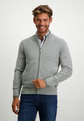 Regular-fit-cardigan-with-saddle-sleeves---silvergrey-plain