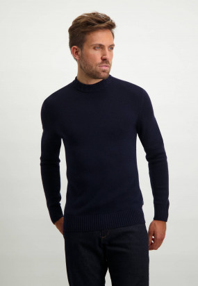 Lambswool-blend-turtleneck-jumper---dark-blue-plain