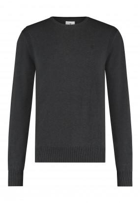 Pullover-mit-R-Ausschnitt-aus-Bio-Baumwolle---dunkel-anthraz.-uni