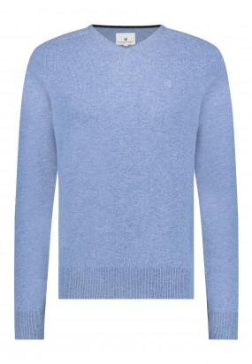 Pull-en-laine-d'agneau-mérinos---gris-bleu-uni