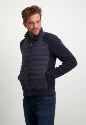 Cardigan-en-coton-avec-acrylique---blue-foncé/blue-foncé