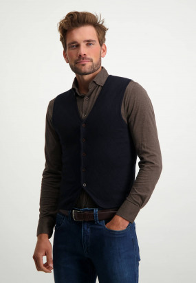 Knit-waistcoat-with-buttons---midnight/cobalt