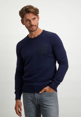 Pullover-in-wool-with-elbow-patches---midnight/midnight