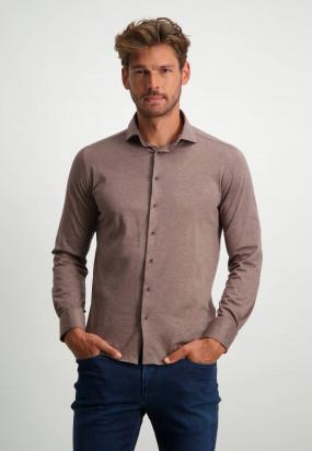 Hemd-aus-100%-Baumwolle---sepia-uni
