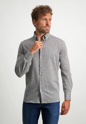 Regular-fit-shirt-with-all-over-print---silver-grey/midnight