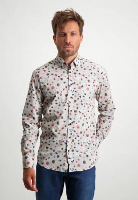 Bedrucktes-Hemd-aus-Bio-Baumwolle---alt-rosa/sepia