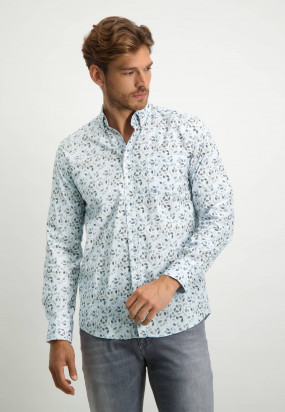 Shirt-of-organic-cotton-with-chest-pocket---midnight/cognac