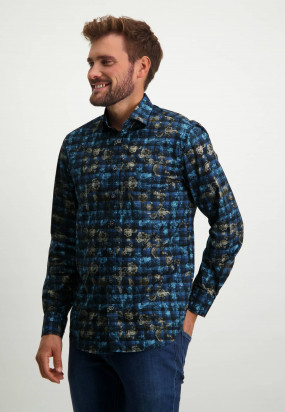Regular-fit-organic-cotton-shirt---midnight/cobalt