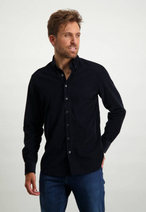 Chemise-à-col-boutonné---blue-foncé-uni