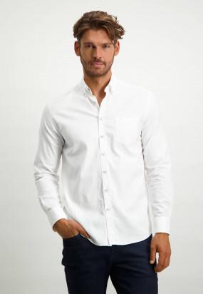Stretch-cotton-Oxford-shirt---white-plain