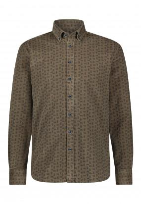 Chemise-à-imprimé-paisley---sépia/blue-foncé
