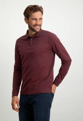 Piqué-sports-shirt-in-mercerized-cotton---midnight/brick