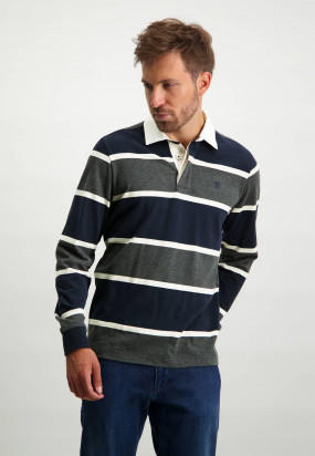 Striped-rugby-shirt-in-100%-cotton---charcoal/midnight