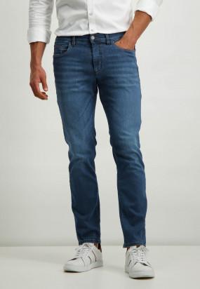 Stretch-Jeans-aus-Baumwolle---kobalt-uni
