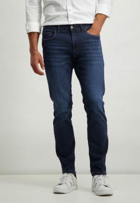 Stretch-Jeans-aus-Baumwolle---marine-uni