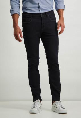 Stretch-Jeans-aus-Baumwolle---dunkelblau-uni