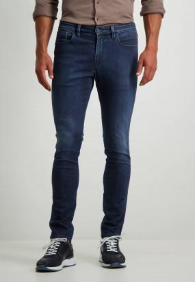 Stretch-Jeans-mit-Knopf-Reißverschlusskombination---kobalt-uni