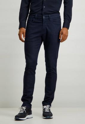 Stretch-Jeans-mit-Knopf-Reißverschlusskombination---dunkelblau-uni