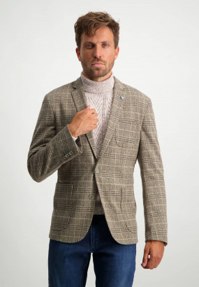 Blazer-with-checked-pattern-and-modern-fit---sepia/cream
