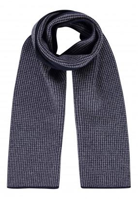 Scarf-with-print-design---dark-blue/silvergrey