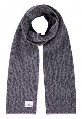 Lambswool-blend-scarf---silvergrey/dark-anthracit
