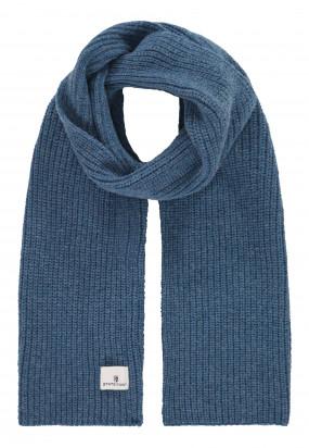 Scarf-in-patent-stitch---grey-blue-plain