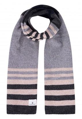 Lambswool-striped-scarf---silvergrey/dark-anthracit