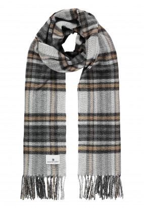 Scarf-with-chequered-pattern-made-of-acrylic---cream/brick