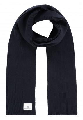 Solid-scarf---dark-blue-plain