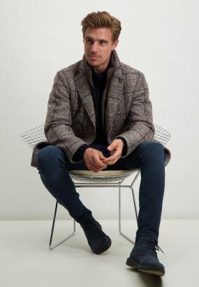 Modern-Classics-halflange-jas---zilvergrijs/donkerblauw