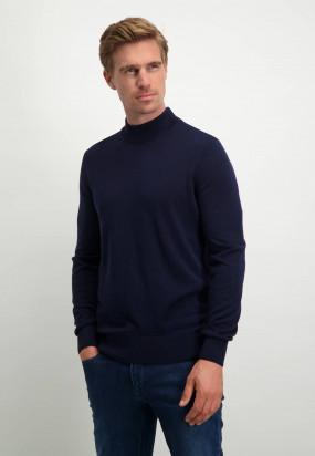 Modern-Classics-trui-met-turtleneck---donkerblauw-uni