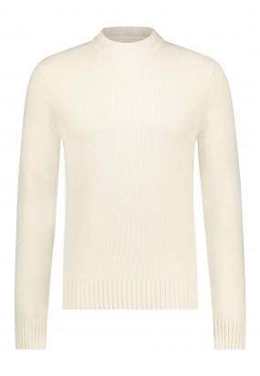 Pull-col-roulé-Modern-Classics-en-laine-d'agneau-mélangée---blanc-cassé-uni