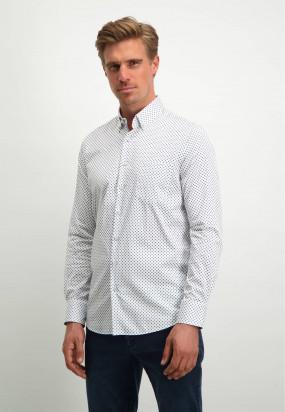 Oberhemd-aus-biologischer-Baumwolle-aus-der-Modern-Classics-Kollektion---weiß/kobalt